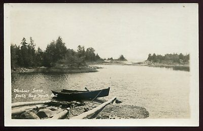 *080 - SOUTH BAY MOUTH Ontario 1910s Harbor Scene. Real Photo Postcard