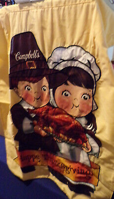 """Campbell's ~ Campbell Kids ~ Thanksgiving Flag ~ 22"""" X 32"""" ~ New ~ Pilgrims"""