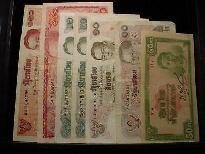 NobleSpirit NO RESERVE VALUABLE Group Thailand Banknotes AS FOUND!