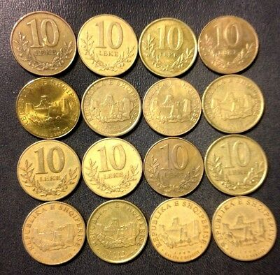 Old ALBANIA Coin Lot - 16 Super Uncommon Coins - Lot #J16