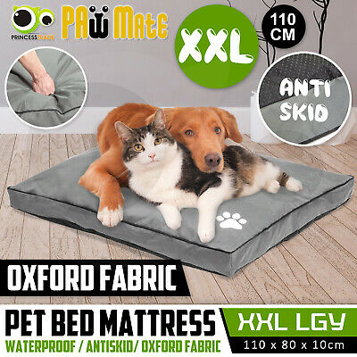 Pet Bed Mattress Dog Cat Pad Mat Summer Cushion Pillow Soft Washable Canvas XXL