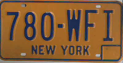NEW YORK LICENSE PLATE EX COND 60/70s heavy metal 6 X 12 INCHES  VINTAGE 7 OZ