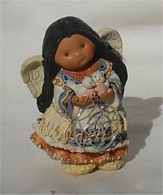 1998 Enesco Friends of the Feather Dreams of Joy Dream Catcher Angel