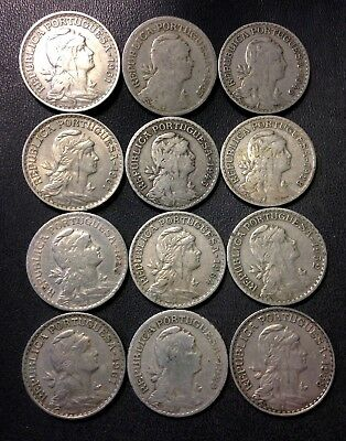 Old Portugal Coin Lot - 1927-1964 - ESCUDOS- 12 Great Coins - Lot #J16