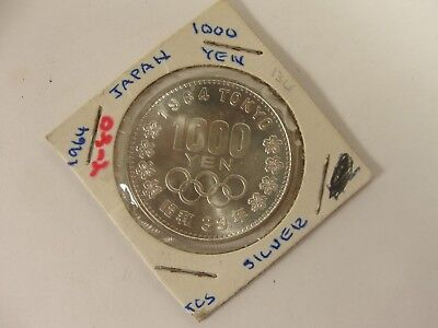 1964 Japan 1000 Yen Olympic Silver Coin
