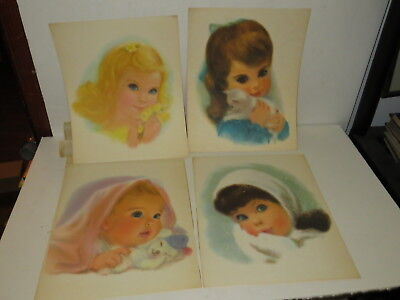 % LOT OF 4 1959 Northern Toilet Paper Girl 11x14 AD photo PRINT Bath  %