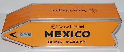 Veuve Clicquot Champagne Arrow Tin Mexico Reims Journey Street Sign