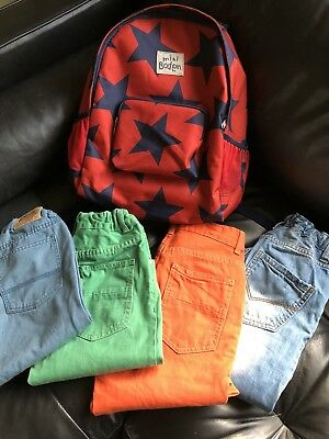 Mini Boden Jeans and Backpack  Peek 5pc Lot 11 12 New