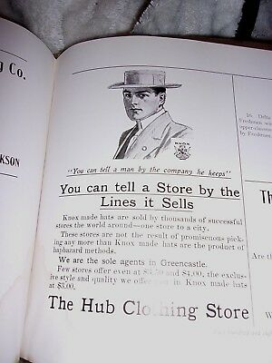 1911 Greencastle, Indiana Advertisement - The Hub Clothing Store