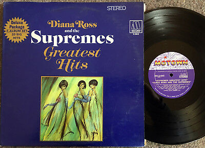 DIANA ROSS & THE SUPREMES Greatest Hits MOTOWN MS-2-663 Soul/R&B orig DOUBLE LP