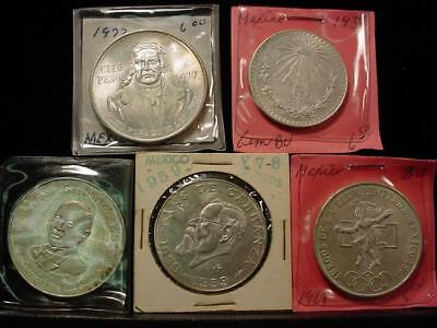 NobleSpirit NO RESERVE Marvelous group Mexico GEM BU Silver Crown size PESOS