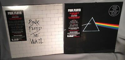 LP PINK FLOYD Dark Side of the Moon & The Wall 2LPs 180g Vinyl 2016 NEW SEALED