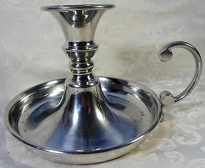 Vintage Queen Art Brooklyn New York Pewter Chamber Maid CandleStick Holder