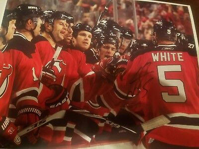 best website 50106 0ac62 COLIN WHITE SIGNED New Jersey Devils Game Used Hockey Stick ...
