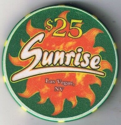Sunrise Casino $25.00 Casino Chip Las Vegas Nevada