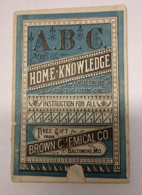 Brown's Iron Bitters 1881 Almanac Baltimore Chemical Company, Frederick Druggist