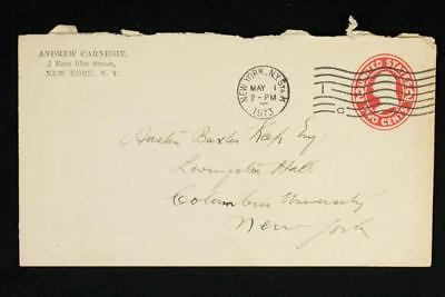 NobleSpirit {3970} Andrew Carnegie Handwriting on 1913 Envelope Addressed by him