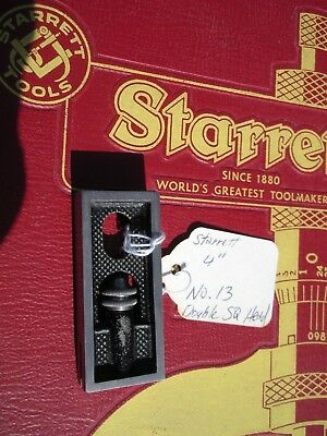 """L.S. Starrett No.13 Double 4"""" Square Head Only MINTY"""
