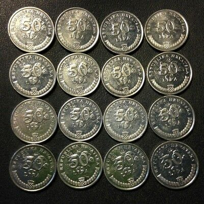 Old CROATIA Coin Lot - 16 High Quality Coins - Scarce Type - FREE SHIPPING