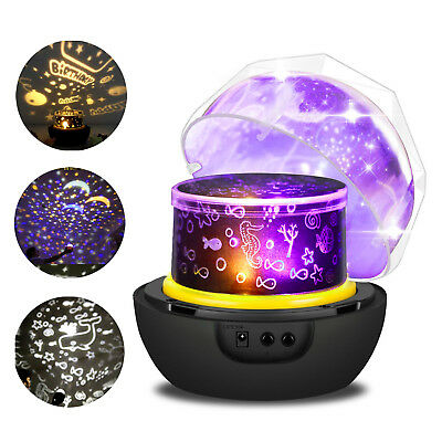 360 Degree Rotation Projector Lamp, Night Light Different Theme Atmosphere Lamp