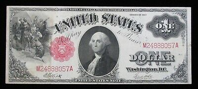 1917 $1 Red Seal Large Size Legal Tender United States Note * US Paper Money *