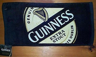 GUINNESS EXTRA STOUT WOVEN BEER BAR GOLF TOWEL 19x10 NEW