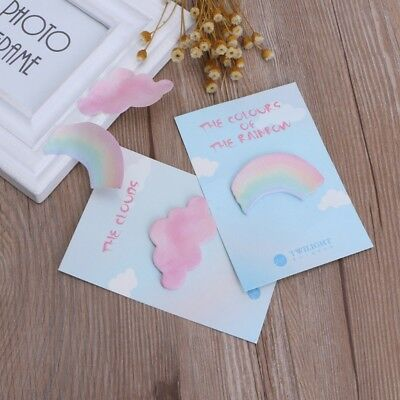 30 Sheets Rainbow Cloud Memo Sticker Pad Cartoon Sticky Notes Notebook Paper