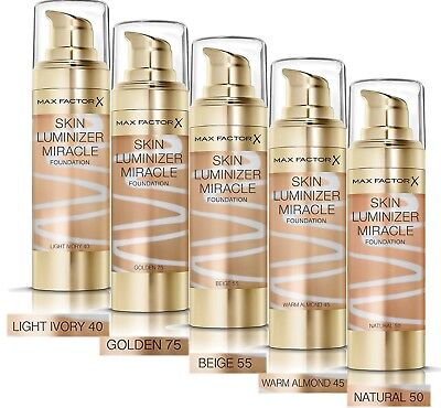 Genuine Brand New Max Factor Skin Luminizer Miracle Foundation 5 Shades 30ml