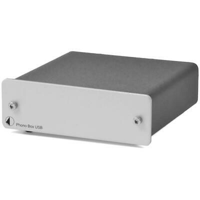 Pro-Ject Phono Box MM + MC Systeme A/D Wandler mit USB Ausgang out silber silver