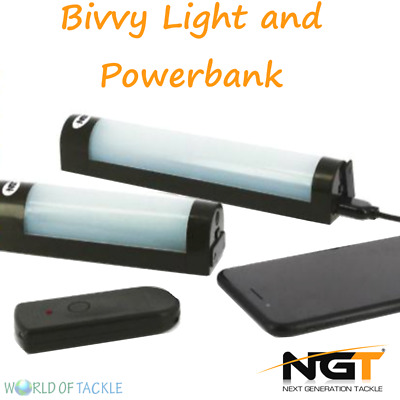 NGT Fishing Bivvy Light + Power Bank Function for Phone Small or Large Pouch