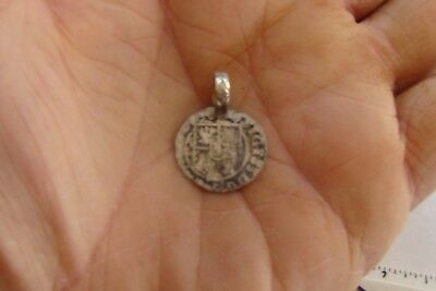 Medieval silver coin made into pendant - Europe metal detector find !!