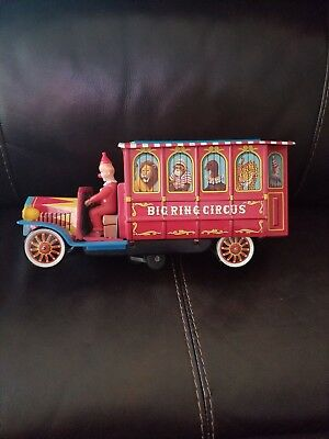 BIG RING CIRCUS Nomura Japan Rare Vintage Tin Litho Battery Operated Toy WORKING