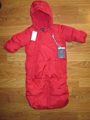 BABY GAP Baby Infant hooded DOWN insulated  fleece lined coat 0 -3 months NWT