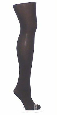 New Womens Ladies Black Semi Opaque Plain Tights 60 Denier Plus Size Xxxl 24-26