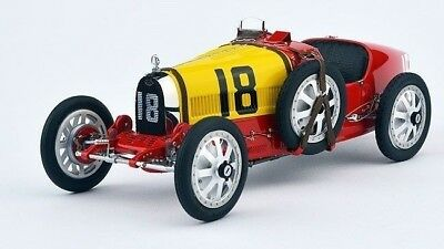 1:18 CMC 1924 Bugatti T35 #18 Spanish Red and Yellow  M-100-016