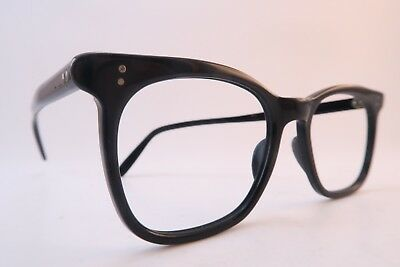 Vintage NHS eyeglasses frames black acetate NHHC made in England SMART