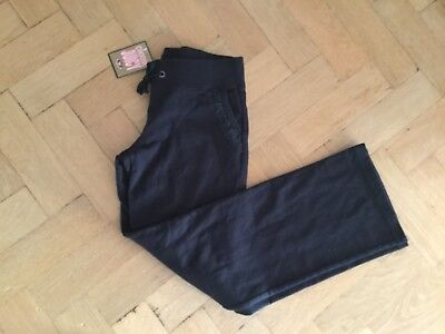 NWT Juicy Couture New & Genuine Girls Age 8 Black Cotton Pants With Juicy Logo