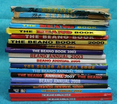 Job Lot of 19 Beano Annuals Mixed 1980's to 2000's (Hospiscare)