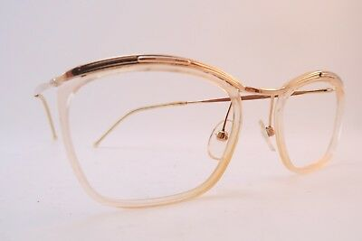 Vintage 50s eyeglasses frames gold filled clear lens surrounds AMOR France