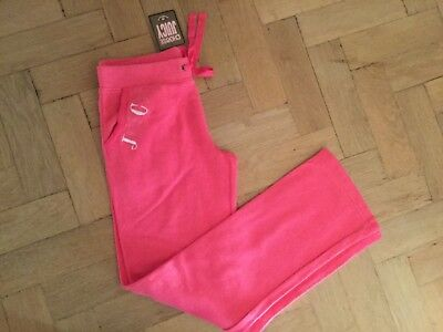 NWT Juicy Couture New & Genuine Girls Age 10 Pink Cotton Pants With Juicy Logo