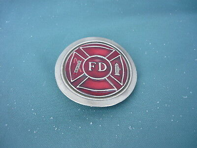 Limited Edition Fire Dept. Belt Buckle 1977 Ladder & Hydrant