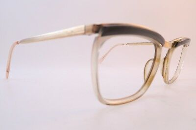 Vintage 50s gold filled Bridge eyeglasses frames mens small/medium France ****