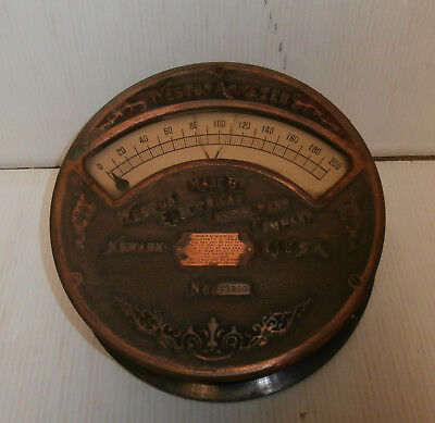 Vintage Weston Electrical Instrument Ammeter Industrial Gauge size 8 3/4""