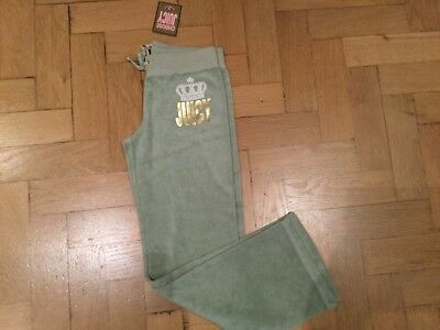 NWT Juicy Couture New & Gen. Green Cotton Tracksuit Pants With Logo Girls Age 8