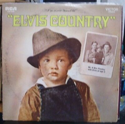 Elvis Presley Elvis Country LP 1970s pressing