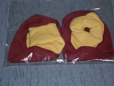 NEW Maroon and Gold Booties One Size for INFANTS Cute