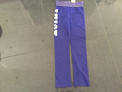 NWT Juicy Couture New & Genuine Purple Cotton Tracksuit Pants Girls Age 8 & Logo