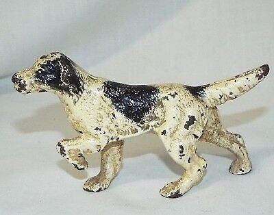 Old Antique HUBLEY CAST IRON ENGLISH SETTER POINTER DOG Miniature paper weight