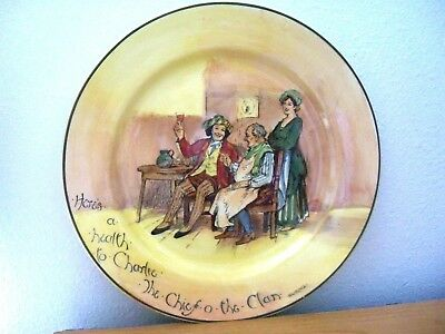 Royal Doulton   HERE'S A HEALTH TO CHARLIE COLLECTOR RACK PLATE