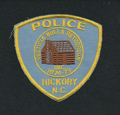 "Vintage Hickory North Carolina Police Patch Highway Patrol Sheriff State 4"" X 4"""